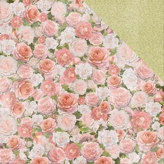 """Cottage Rose Double-Sided Cardstock 12""""X12""""-Garden"""