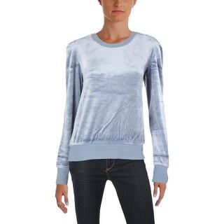Juicy Couture Black Label Womens Sweatshirt Velour Lightweight