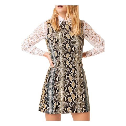 FRENCH CONNECTION Brown Long Sleeve Above The Knee Dress 2