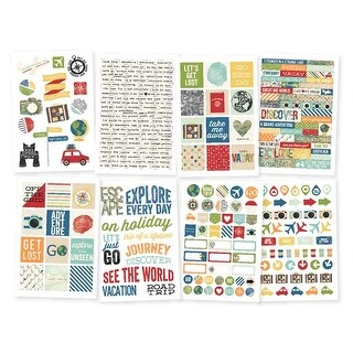 "- Travel Notes Stickers 4""X6"" 8/Pkg"