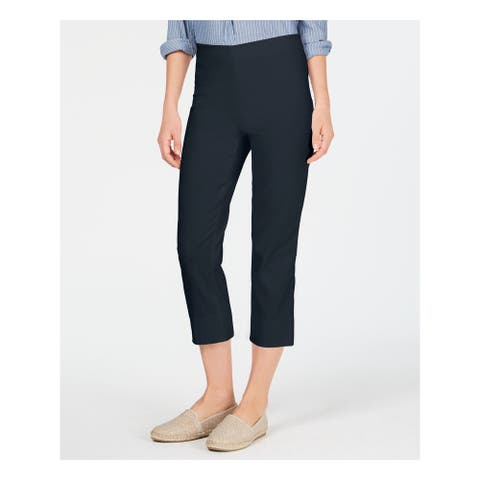 CHARTER CLUB Womens Navy Wear To Work Pants Size 14