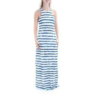 RALPH LAUREN $125 Womens New 1151 White Striped Sleeveless Shift Dress S B+B