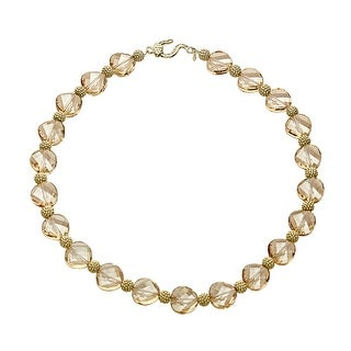 Aya Azrielant Swarovski Crystals Bead Necklace in 18K Gold-Plated Sterling Silver - Honey