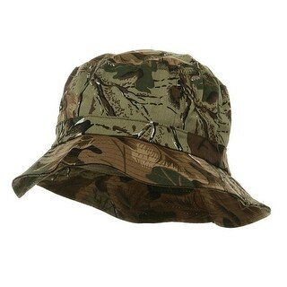 Pigment Dyed Bucket Hat-Leaf Camo - leaf camouflage