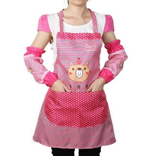 Exceptionnel Women Kitchen Restaurant Cooking Aprons Pocket Gift Apron Fuschia W Sleeves