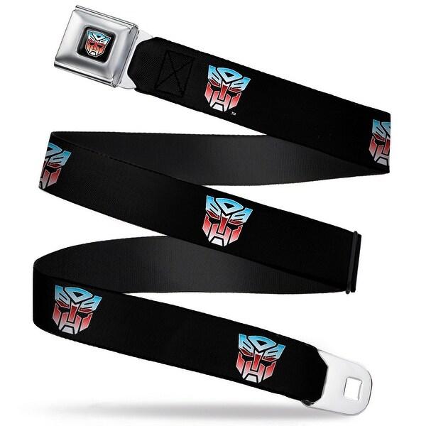 Transformers Autobot Logo Full Color Black Blue Red Fade Autobot Logo Seatbelt Belt