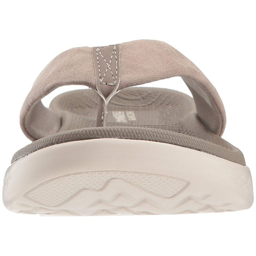 Skechers Performance Women's On The Go 600 Polished Flip Flop, Taupe, 10 M Us