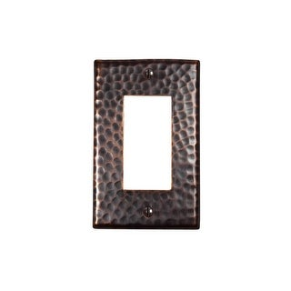"The Copper Factory CF121 4 7/8 x 3"" Solid Hammered Copper Single GFCI Plate - N/A"