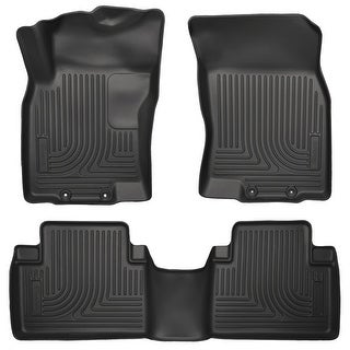 Husky Weatherbeater 2014-2016 Nissan Rogue Black Front & Rear Floor Mats/Liners