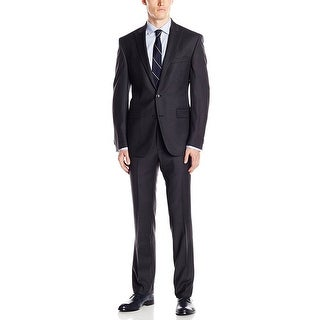 Kenneth Cole New York Slim Fit Charcoal Striped Suit 44 Short 44S Pants 38W