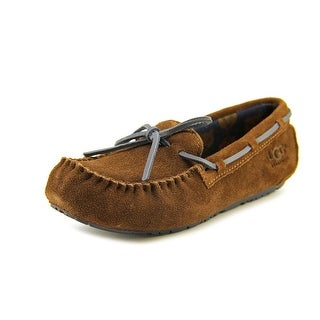 Ugg Australia Ryder Jungle Youth Round Toe Suede Brown Slipper