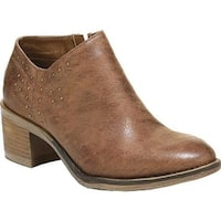 Carlos by Carlos Santana Women's Conroy Bootie Camel Manmade Leather