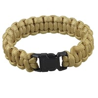 Unique Bargains Unique Bargains Camping Hiking Side Release Buckle Parachute Cord Survival Bracelet Khaki 220Lbs