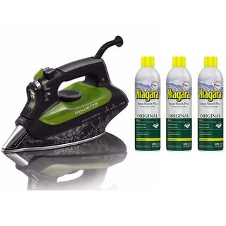 Rowenta DW6080 Eco-Intelligence Energy Saving Steam Iron Plus 3 Spray Starch