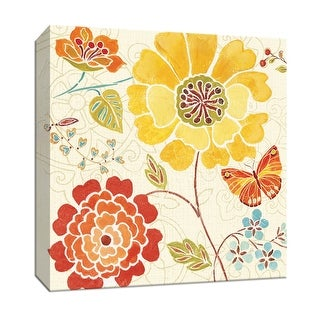 """PTM Images 9-152377  PTM Canvas Collection 12"""" x 12"""" - """"Spice Bouquet III"""" Giclee Flowers Art Print on Canvas"""