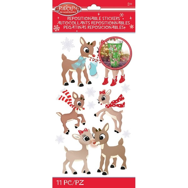 Rudolph The Red Nosed Reindeer Stickers-Rudolph & Clarice