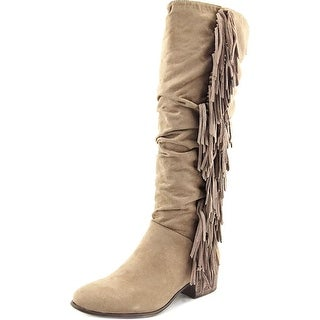 Madden Girl Pondo Round Toe Suede Knee High Boot