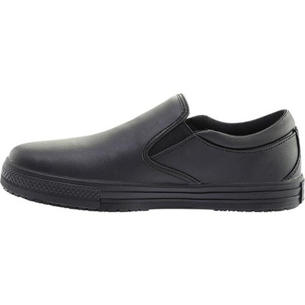 Genuine Grip Footwear Men/'s   Slip-Resistant Retro Slip-on Work Shoes Black