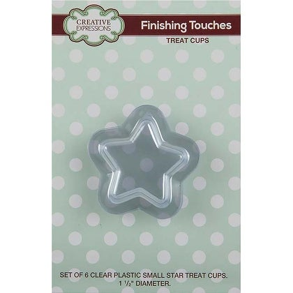"Clear 1.5"" Diameter - Creative Expressions Small Star Treat Cups 6/Pkg"