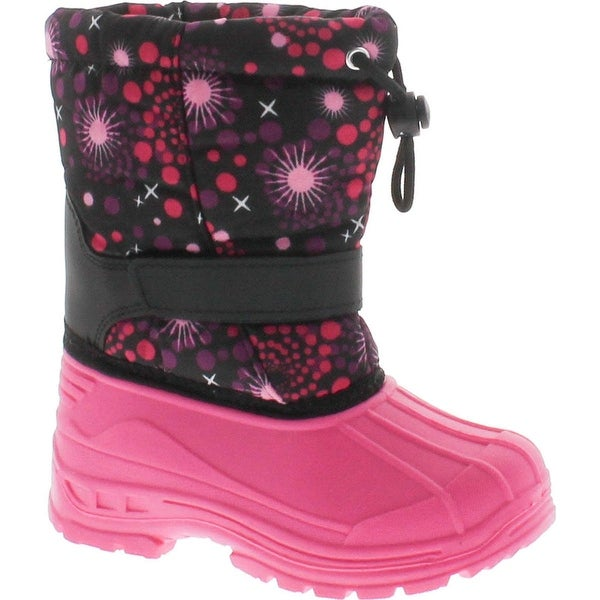 Transco Youth Girls B253yg Water Resistant One Strap Boot With Toggle Pull - FUCHSIA