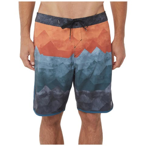 O'Neill Mens Hyperfreack Board, Surf Shorts Colorblock Quick Dry