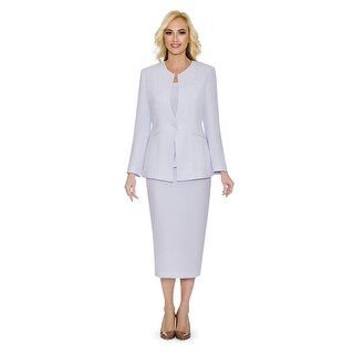 Link to Giovanna Signature Women's Non-collar 3-piece Skirt Suit Similar Items in Suits & Suit Separates