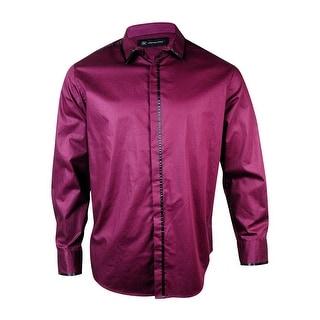 INC International Concepts Men's Satin Trim Poplin Shirt - XL