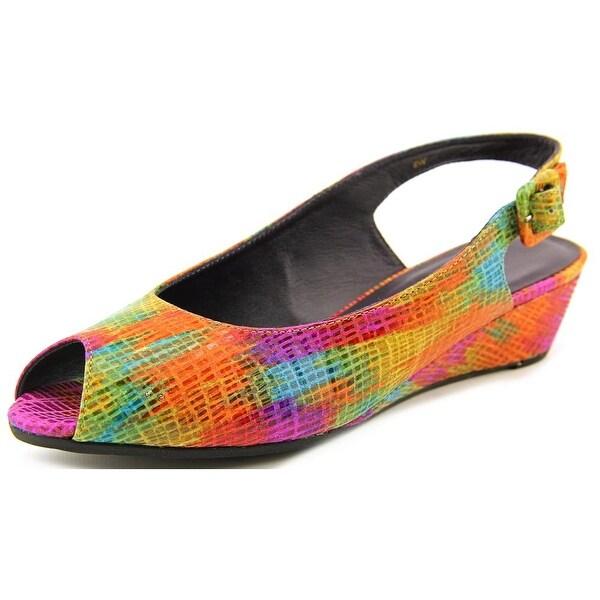 Vaneli Elrica Women Peep-Toe Synthetic Multi Color Slingback Heel