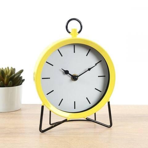 """Lauren Taylor- Table Metal Clock - 8x6x2.75"""""""