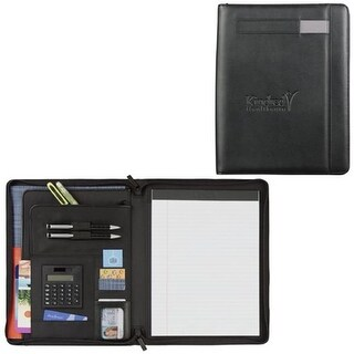 Leeds 5150-10 Links Zippered Padfolio - Black
