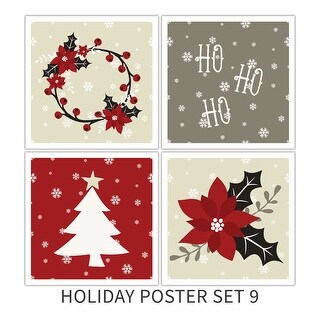 Holiday Poster Set 9 Holiday Poster Set Matte Poster 18x18