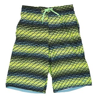 Nike NEW Yellow Blue Mens Size Small S Stripe Board Surf Shorts