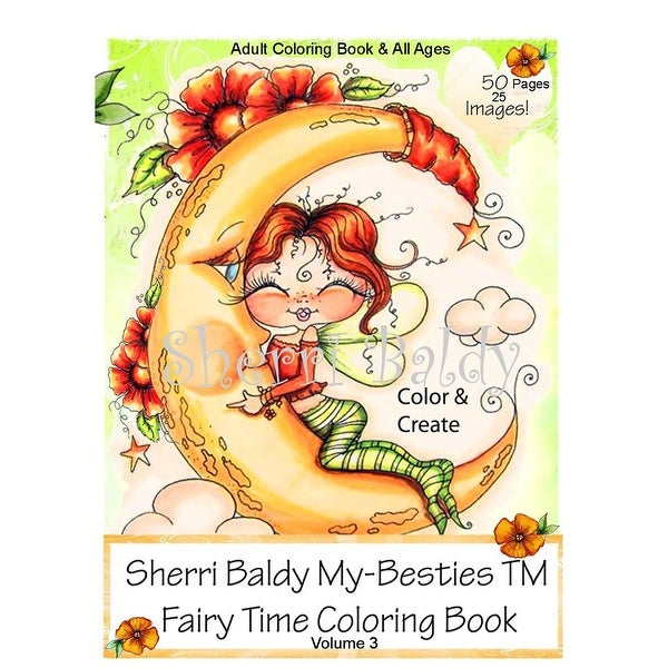 """My Besties Coloring Book 8.5""""X11"""" 50 Pages-Fairy Time"""
