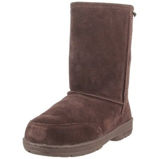 Bearpaw Womens Meadow Short 8-Inch Suede Sheepskin Boot