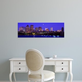 Easy Art Prints Panoramic Images's 'Dusk Charles River Boston MA USA' Premium Canvas Art