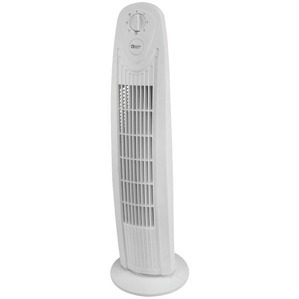 "Comfort Zone Cztf329Wt 29"" Oscillating 3-Speed Tower Fan"