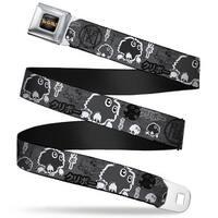 Yu Gi Oh! Logo Full Color Black Fade Gold Kuriboh Dark Kanji Collage Grays Seatbelt Belt