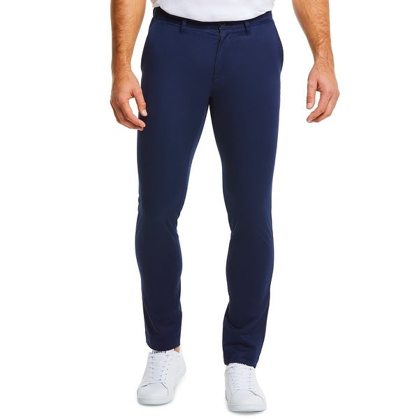 Lacoste Mens Pants Blue Size 40x34 Slim Fit Flat Front Chino Stretch. Opens flyout.