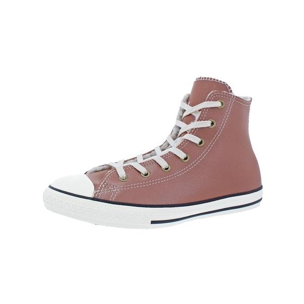110701e1b3e490 Converse Girls Chuck Taylor All Star Hi Trainers Big Kid Fashion - antique  sepia parchment