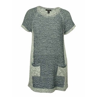 Style & Co Women's Short Sleeve Knit Tunic Sweater - l