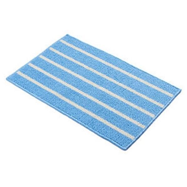 Simple Stripe Long Ground Floor Door Mat Carpet 43x65cm - Blue