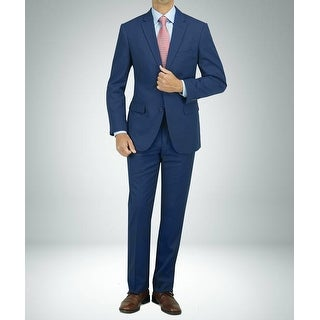 Link to Carlo Studio Blue Cross-Weave Pattern Modern-Fit Suit Similar Items in Suits & Suit Separates