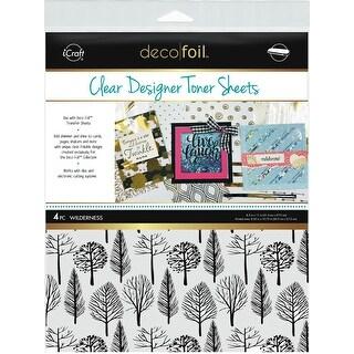 """Deco Foil Clear Toner Sheets 8.5""""X11"""" 4/Pkg-Wilderness"""