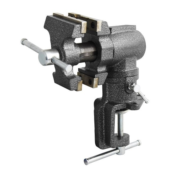 """Toolsmith 2-1/2"""" 2"""" Jaw Clamp-on Vise Swivels and Rotates 360 Degrees - 240006"""