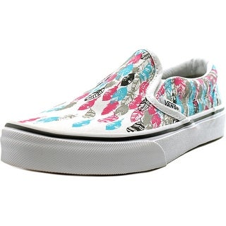 Vans Classic Slip-On Youth  Round Toe Canvas Multi Color Skate Shoe