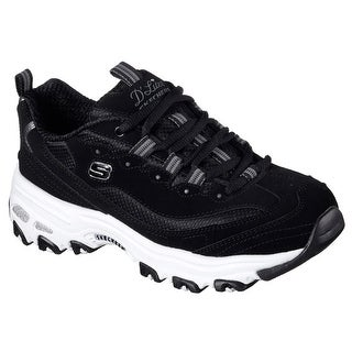 Skechers 11930 BLK Women's D'LITES-BIGGEST FAN Walking