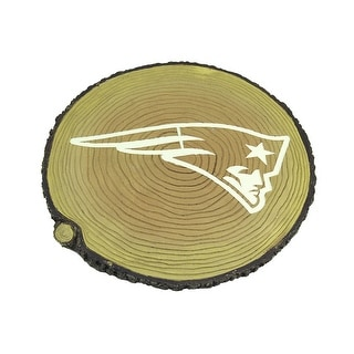 NFL New England Patriots Glow In The Dark Tree Stump Stepping Stone Tan 0 75 X 12 X 12 Inches