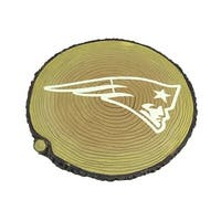 NFL New England Patriots Glow In the Dark Tree Stump Stepping Stone - TAN