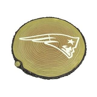 NFL New England Patriots Glow In the Dark Tree Stump Stepping Stone - TAN