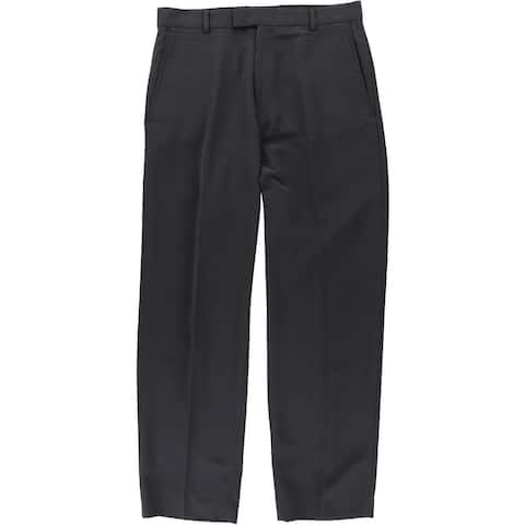 Kenneth Cole Mens Micro-Poly Casual Trouser Pants, grey, 32W x 32L - 32W x 32L